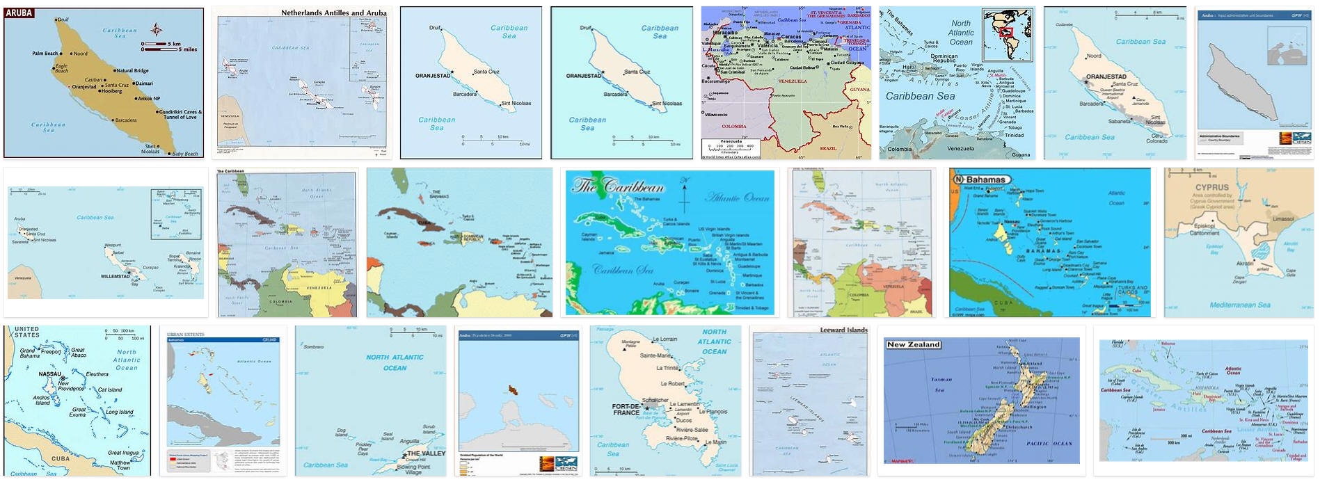 Picture of: Maps Of Aruba With Cities And Outline