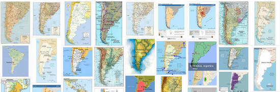 Maps of Argentina