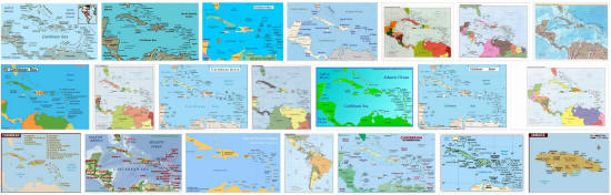 Maps of Caribbean