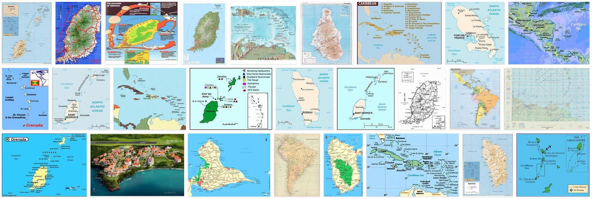 Picture of: Maps Of Grenada With Cities And Outline