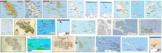 Maps of Martinique