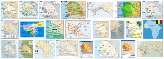 Maps of Senegal